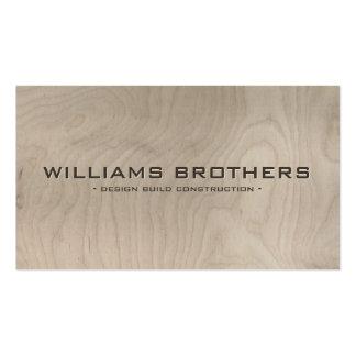 Contratistas tallados de los constructores de la tarjetas de visita