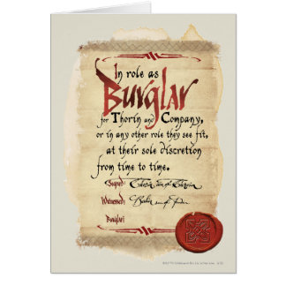 Contrato del ladrón tarjeta de felicitación