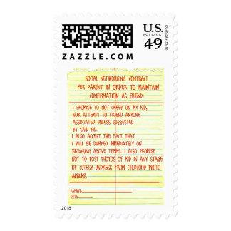 Contrato social del establecimiento de una red sello