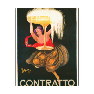 Contratto Vintage Liquor Advertisment Canvas Print