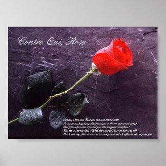 Contre Qui, Rose Poster