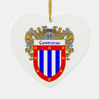 Contreras Coat of Arms/Family Crest Ceramic Ornament
