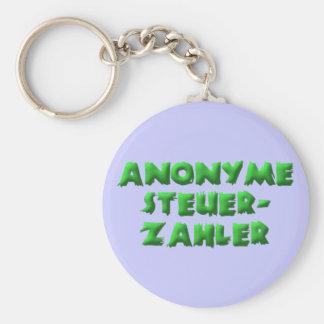 Contribuyentes anónimos llavero redondo tipo pin