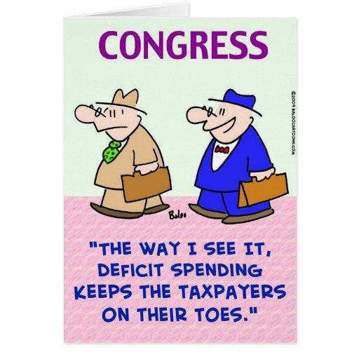 contribuyentes del gasto de déficit en los dedos d tarjetón