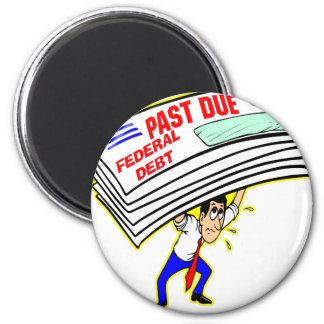 Contribuyentes machacantes atrasados de la deuda f imán redondo 5 cm