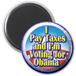 Contribuyentes para Obama Imán Redondo 5 Cm