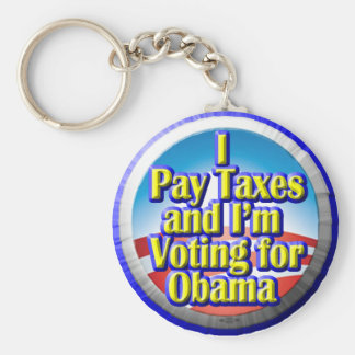 Contribuyentes para Obama Llavero Redondo Tipo Pin
