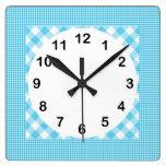 Control blanco azul del estilo rural reloj