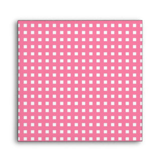 Control blanco rosado del sobre