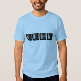 Control C Ctrl V Keys Keyboard Computer T-Shirt
