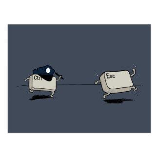 Control contra escape tarjeta postal