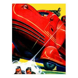 Control de alboroto retro de Sci Fi 30s del kitsch Tarjetas Postales