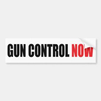 Control de armas ahora pegatina de parachoque