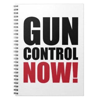 Control de armas ahora libro de apuntes con espiral