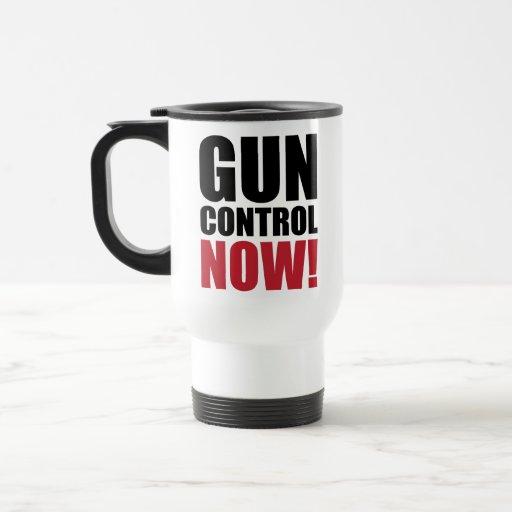 Control de armas ahora taza térmica