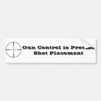 Control de armas pegatina de parachoque