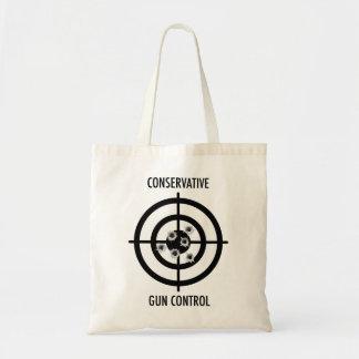 Control de armas conservador bolsas lienzo