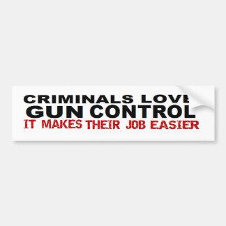 Control de armas criminal anti de Obama político Etiqueta De Parachoque