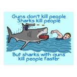 Control de armas divertido del tiburón postal