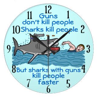 Control de armas divertido del tiburón relojes
