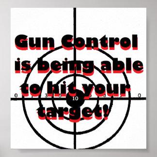 Control de armas: está pudiendo golpear su blanco póster