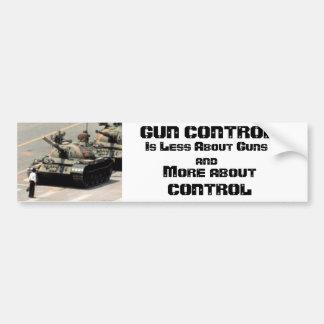 Control de armas… más sobre control etiqueta de parachoque