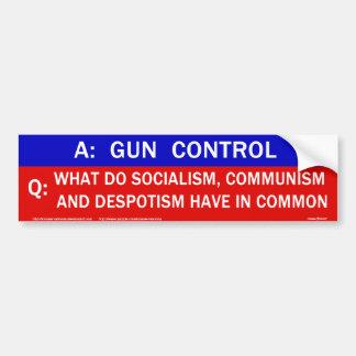 Control de armas pegatina para auto