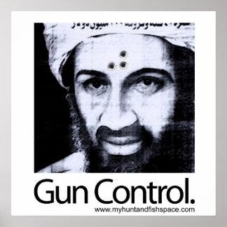 Control de armas póster