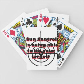 Control de armas: Pudiendo golpear su blanco Baraja Cartas De Poker