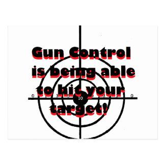 Control de armas: Pudiendo golpear su blanco Postal