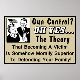 ¿Control de armas? ¡Teoría de una víctima! Póster