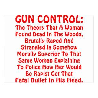 Control de armas una mujer encontrada muerta en la postal