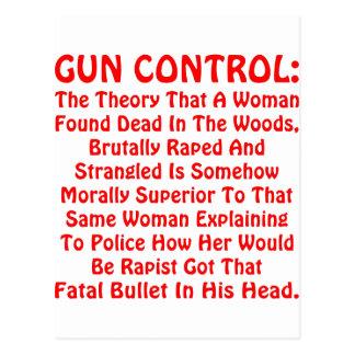 Control de armas una mujer encontrada muerta en postal
