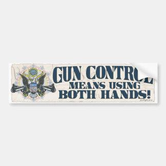 Control de armas Usando ambas manos Arma-Toting E Etiqueta De Parachoque