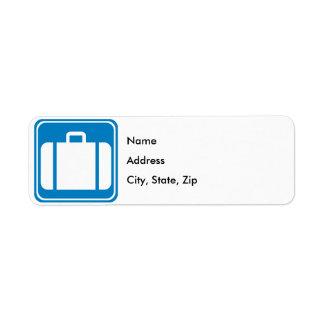 Control de equipaje/muestra de la carretera de la  etiqueta de remite