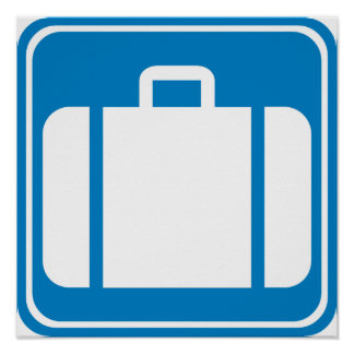 Control de equipaje/muestra de la carretera de la  poster