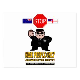 CONTROL DE FRONTERAS DE NUEVA ZELANDA TARJETA POSTAL