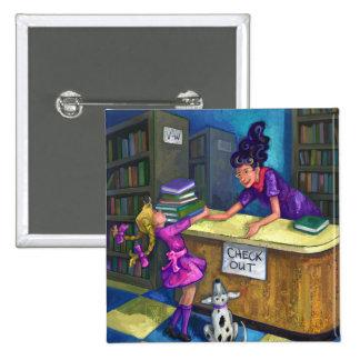 Control de la biblioteca hacia fuera chapa cuadrada 5 cm