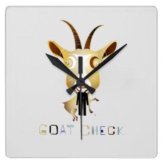 Control de la cabra - ejemplo de ZooDo Reloj Cuadrado