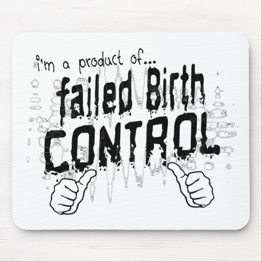 control de la natalidad fallado tapetes de ratón