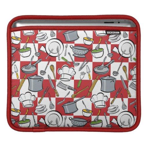 Control de las herramientas de la cocina mangas de iPad