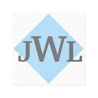 Control de los azules claros con iniciales de impresion en lona
