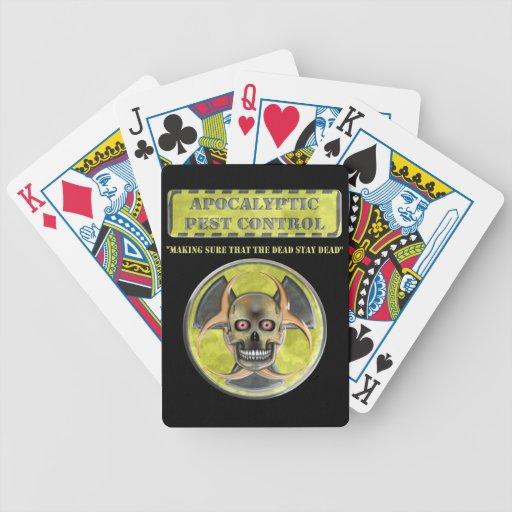 Control de parásito apocalíptico baraja de cartas