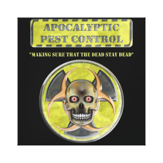 Control de parásito apocalíptico lona envuelta para galerías