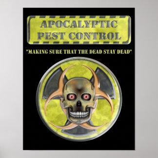 Control de parásito apocalíptico poster