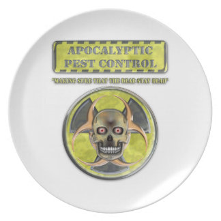 Control de parásito apocalíptico plato de comida