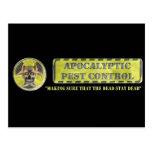 Control de parásito apocalíptico postales