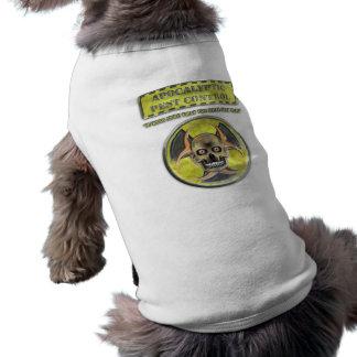 Control de parásito apocalíptico camisas de mascota
