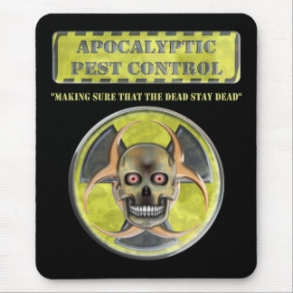 Control de parásito apocalíptico alfombrilla de raton