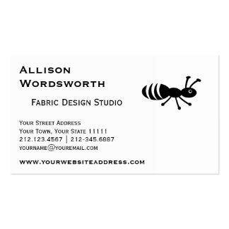 Control de parásito divertido lindo de la hormiga tarjetas de visita